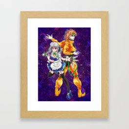 sakuya and dio Framed Art Print