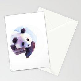 Panda watercolor Stationery Cards