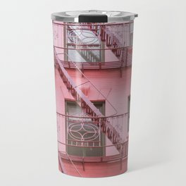 Pink Soho NYC Travel Mug