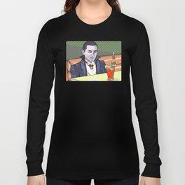 Dracula enjoying a bloody mary at Applebee's. Long Sleeve T-shirt