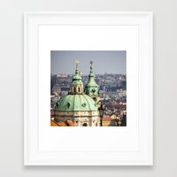 prague Framed Art Prints featuring Prague by Veronika