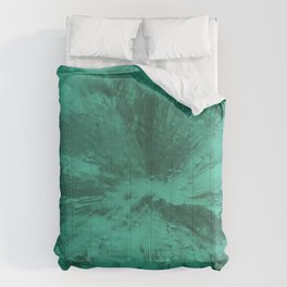 Teal Crystal pattern 1 Comforters