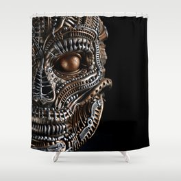 Biomechanical monster Shower Curtain