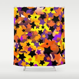 Halloween Star Crazy Shower Curtain