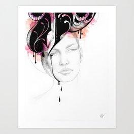 The Caress of Sorrow Art Print