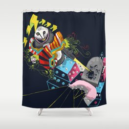 Escape from nothingness Shower Curtain