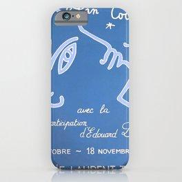 Jean Cocteau Exhibition Poster iPhone Case
