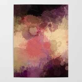 Modern Contemporary Ultra Violet Glow Abstract Poster