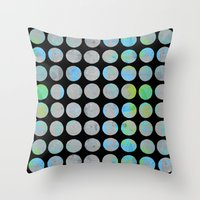 dots Throw Pillows featuring Dots  by LebensARTdesign