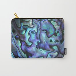Deep Purple Abalone Shell Carry-All Pouch