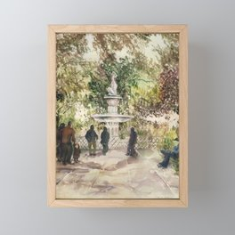 Forsyth Fountain in the Park, Savannah, Georgia Framed Mini Art Print