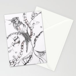 Cardio Bird Stationery Cards