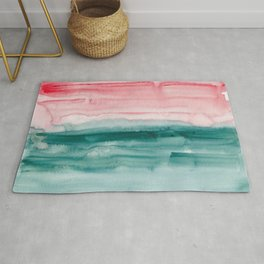 16     190907   Watercolor Abstract Painting Rug