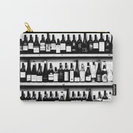 Wine Bottles in Black And White #decor #society6 #buyart Carry-All Pouch