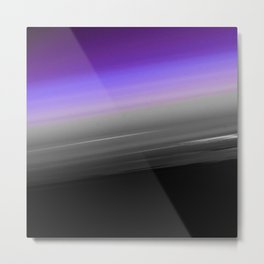 Purple Gray Black Smooth Ombre Metal Print