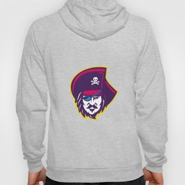 Privateer Pirate Head Mascot Hoody