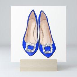 Manolo Blue Shoes Mini Art Print