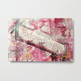 Broadway sign New York City Metal Print