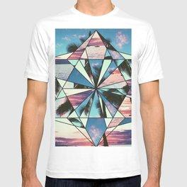 Summer Palm Tree Mosaic T-shirt