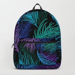 Multicolored palm leaves Backpack