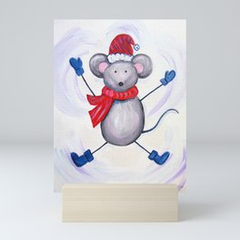 Winter Mouse Mini Art Print
