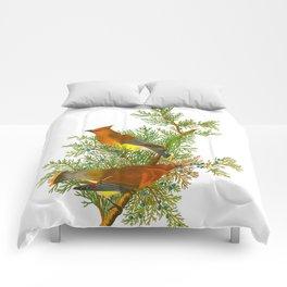 Cedar Waxwing Bird Comforters