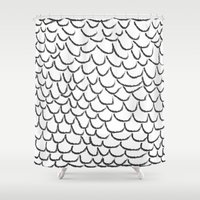 angel wings Shower Curtains featuring angel wings by her art