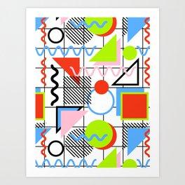 Circle Square Triangle Art Print