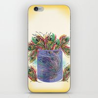 feathers iPhone & iPod Skins featuring Feathers by famenxt
