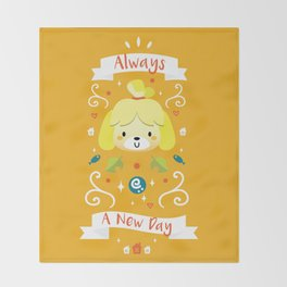 Animal Crossing: Isabelle Throw Blanket