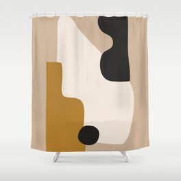abstract minimal 16 Shower Curtain