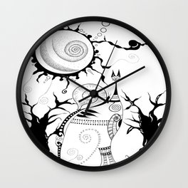 The Snail & The Cat Wall Clock