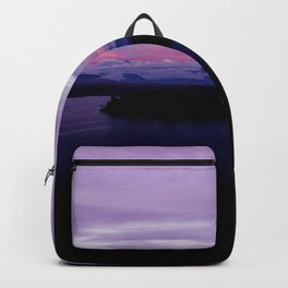 mahinapua golden hours purple reflections clouds dark Backpack