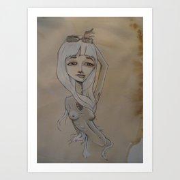 God-made man-made femme fatalist Art Print