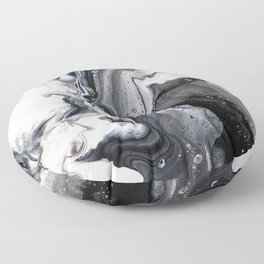 Marble B/W/G Floor Pillow