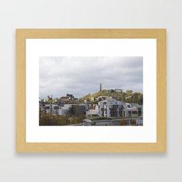 View of Holyrood and Calton Hill Edinburgh Framed Art Print