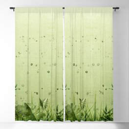 """""""Forest leaves and plants"""" Blackout Curtain"""