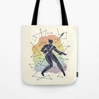 warrior Tote Bags featuring Rainbow Warrior by LordofMasks