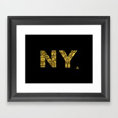 NIGHT NY - PM Framed Art Print
