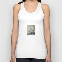 moroccan Tank Tops featuring Moroccan Window by Linde Townsend