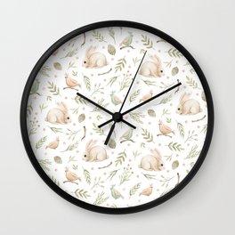 Cute Bunny patterns Wall Clock
