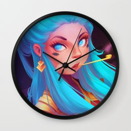 Blowing Off Steam Wall Clock