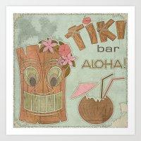aloha Art Prints featuring Aloha by Robin Curtiss