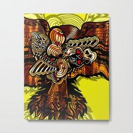 The Golden Phoenix Metal Print