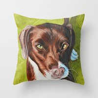 jasmine Throw Pillows featuring Jasmine by Lindsay Larremore Craige