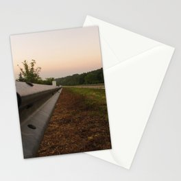 Life Down a Guard Rail Stationery Cards