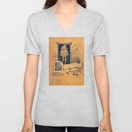 Davy and the Goblin Book Unisex V-Neck