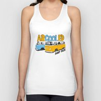 vw bus Tank Tops featuring VW Camper Van Surf Bus by VelocityGallery
