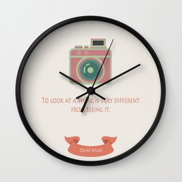 Looking & Seeing Wall Clock