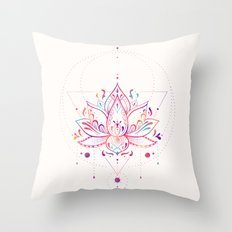 Lotus Prism Throw Pillow